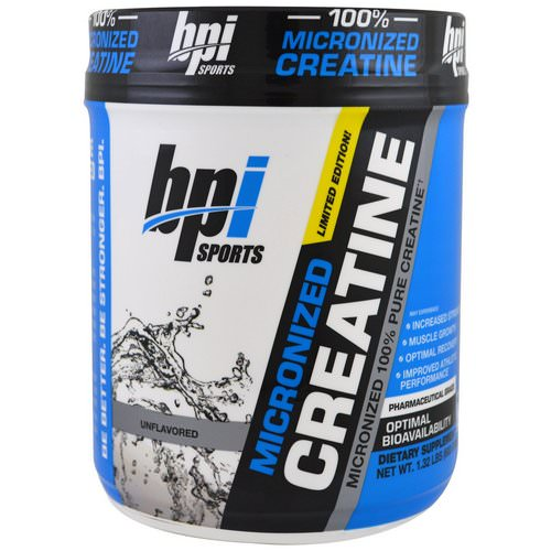 BPI Sports, Micronized Creatine, Limited Edition, Unflavored, 1.32 lbs (600 g) فوائد