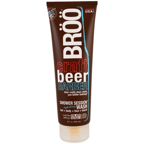 BRoo, Crafted Beer Barber, Shower Session Hydrating Wash, Fresh Scent, 9 fl oz (266 ml) فوائد