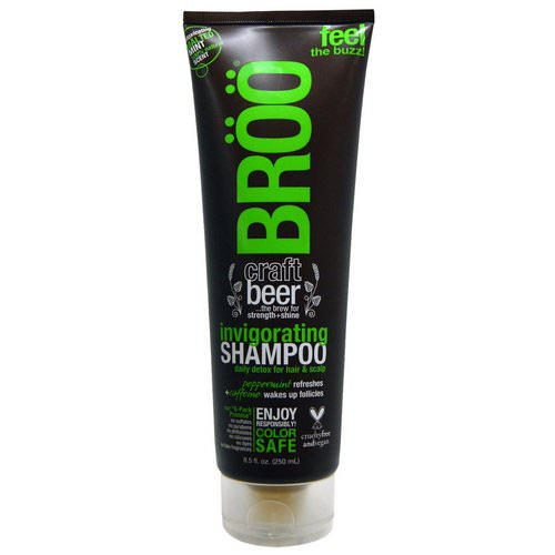BRoo, Invigorating Shampoo, Malted Mint, 8.5 fl oz (250 ml) فوائد