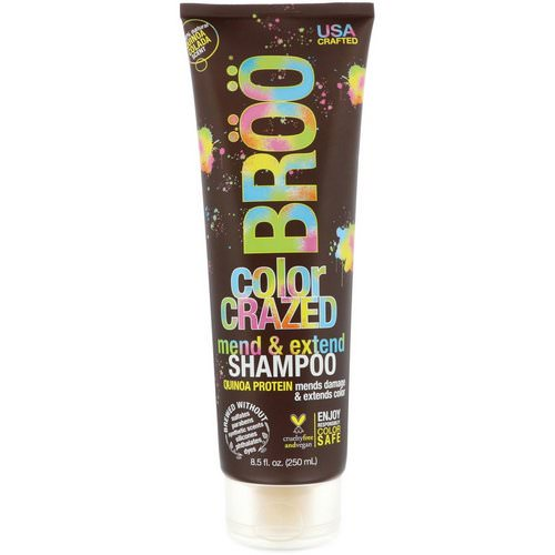 BRoo, Color Crazed Shampoo, Quinoa Colada, 8.5 fl oz (250 ml) فوائد