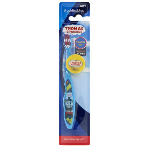 Brush Buddies, Thomas & Friends, Travel Kit, Soft, 1 Toothbrush With Cap فوائد