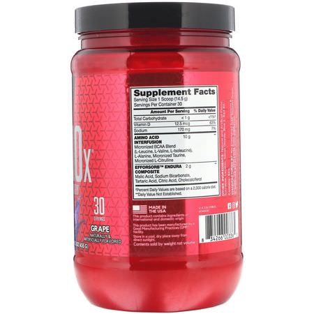BSN, Amino-X, Endurance & Recovery, Grape, 15.3 oz (435 g):BCAA,الأحماض الأمينية