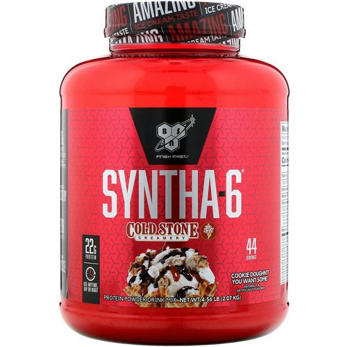 BSN, Syntha-6, Cold Stone Creamery, Cookie Doughn't You Want Some, 4.56 lb (2.07 kg) فوائد