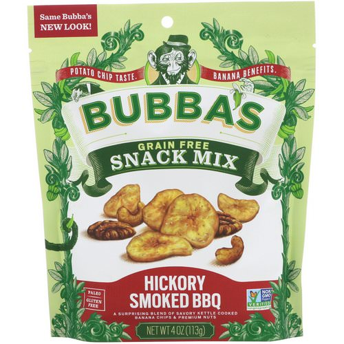 Bubba's Fine Foods, Snack Mix, Hickory Smoked BBQ, 4 oz (113 g) فوائد
