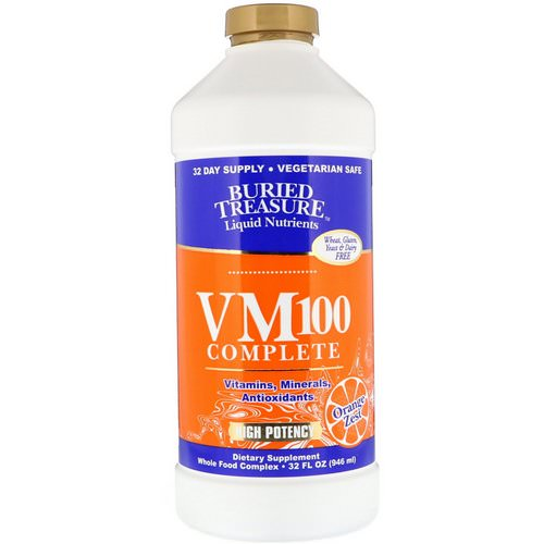 Buried Treasure, Liquid Nutrients, VM100 Complete, Orange Zest, 32 fl oz (946 ml) فوائد