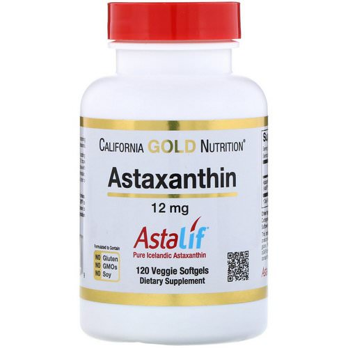 California Gold Nutrition, Astaxanthin, AstaLif Pure Icelandic, 12 mg, 120 Veggie Softgels فوائد