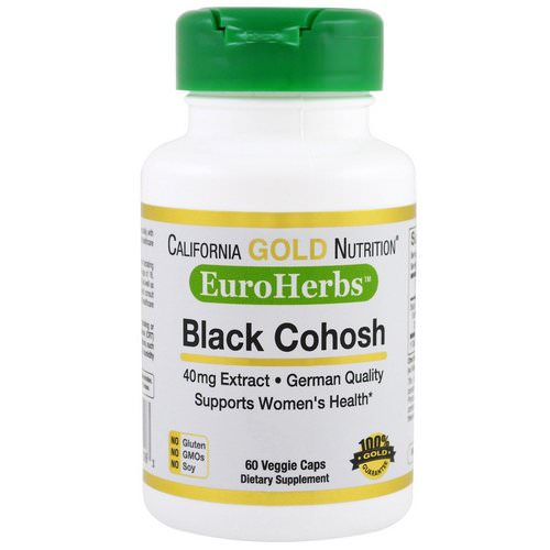 California Gold Nutrition, Black Cohosh Extract, 40 mg, 60 Veggie Caps فوائد