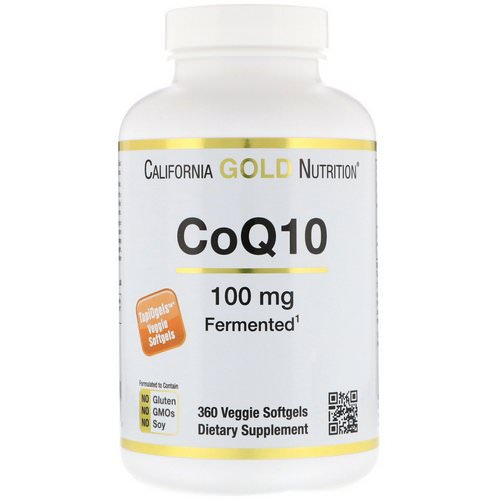 California Gold Nutrition, CoQ10, 100 mg, 360 Veggie Softgels فوائد
