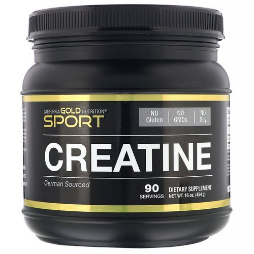 California Gold Nutrition, Creatine Monohydrate, Unflavored, 16 oz (454 g) فوائد
