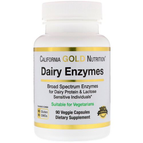 California Gold Nutrition, Dairy Enzymes, 90 Veggie Capsules فوائد
