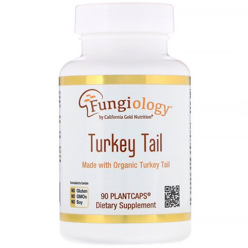 California Gold Nutrition, Fungiology, Full-Spectrum Turkey Tail, 90 Plantcaps فوائد