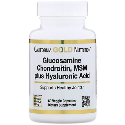 California Gold Nutrition, Glucosamine Chondroitin, MSM plus Hyaluronic Acid, 60 Veggie Capsules فوائد