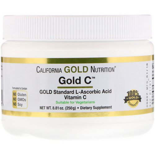 California Gold Nutrition, Gold C Powder, 8.81 oz (250 g) فوائد