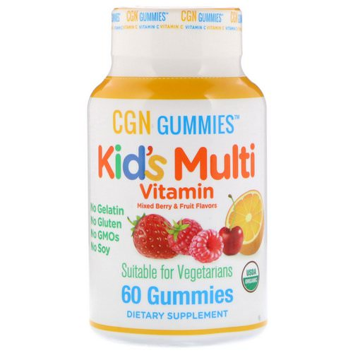 California Gold Nutrition, Kid's Multi Vitamin Gummies, No Gelatin, No Gluten, Organic Mixed Berry and Fruit Flavor, 60 Gummies فوائد