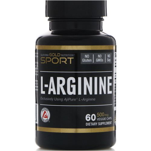 California Gold Nutrition, L-Arginine, AjiPure, 500 mg, 60 Veggie Caps فوائد