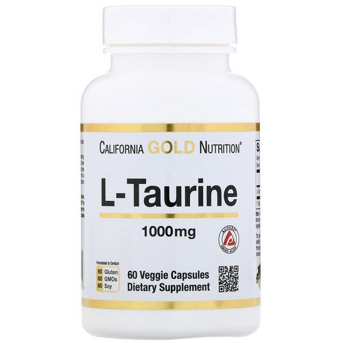 California Gold Nutrition, L-Taurine, 1000 mg, 60 Veggie Capsules فوائد