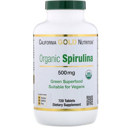 California Gold Nutrition, Organic Spirulina, USDA Certified, 500 mg, 720 Tablets فوائد