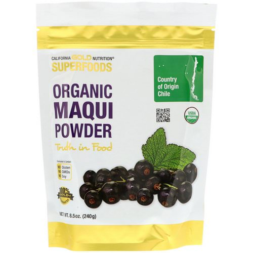 California Gold Nutrition, Superfoods, Organic Maqui Powder, 8.5 oz (240 g) فوائد