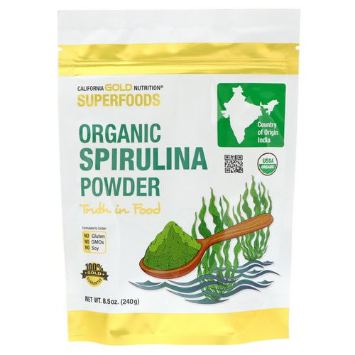 California Gold Nutrition, Superfoods, Organic Spirulina Powder, 8.5 oz (240 g) فوائد