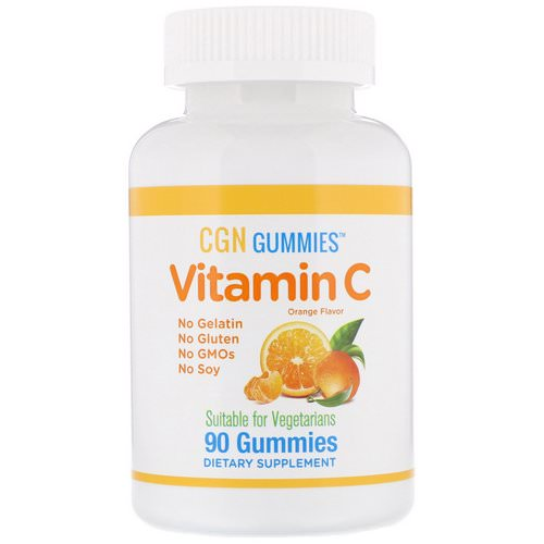California Gold Nutrition, Vitamin C Gummies, Natural Orange Flavor, Gelatin Free, 250 mg, 90 Gummies فوائد