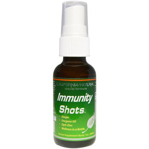 California Natural, Immunity Shots Spray, 1 oz (30 ml) فوائد