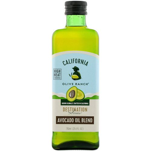 California Olive Ranch, Avocado Oil Blend, Destination Series, 25.4 fl oz (750 ml) فوائد