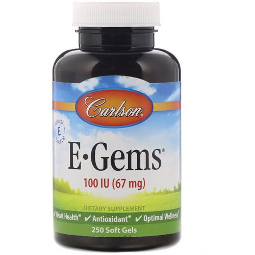 Carlson Labs, E-Gems, 100 IU (67 mg), 250 Softgels فوائد