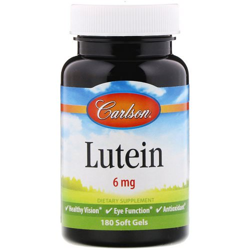 Carlson Labs, Lutein, 6 mg, 180 Soft Gels فوائد