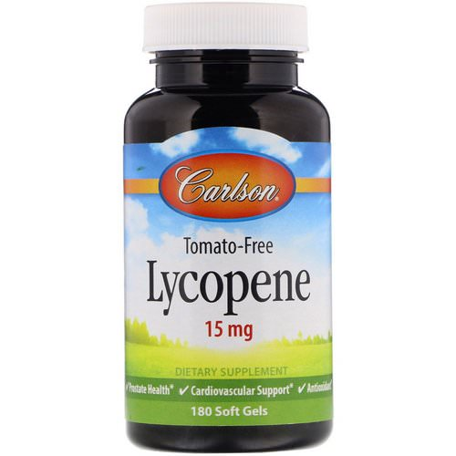 Carlson Labs, Lycopene, 15 mg, 180 Soft Gels فوائد