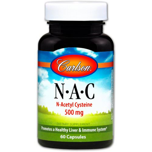 Carlson Labs, N-A-C, 500 mg, 60 Capsules فوائد