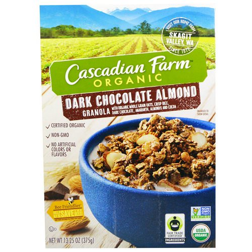 Cascadian Farm, Organic, Granola, Dark Chocolate Almond, 13.25 oz (375 g) فوائد