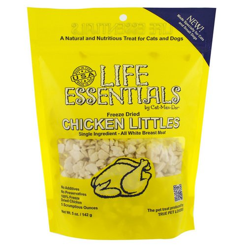 Cat-Man-Doo, Life Essentials, Freeze Dried Chicken Littles, For Cats & Dogs, 5 oz (142 g) فوائد