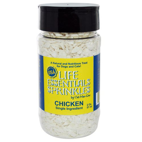 Cat-Man-Doo, Life Essentials Sprinkles for Cats & Dogs, Chicken, 2 oz (57 g) فوائد