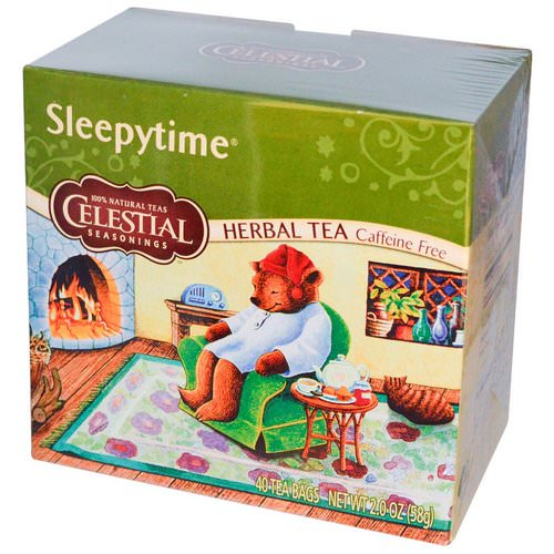 Celestial Seasonings, Herbal Tea, Caffeine Free, Sleepytime, 40 Tea Bags, 2.0 (58 g) فوائد