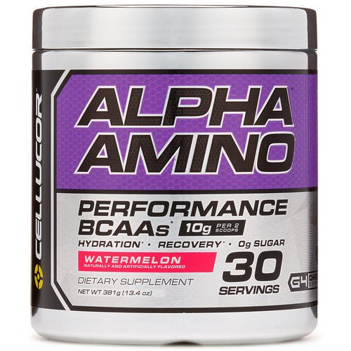 Cellucor, Alpha Amino, Performance BCAAs, Watermelon, 13.4 oz (381 g) فوائد