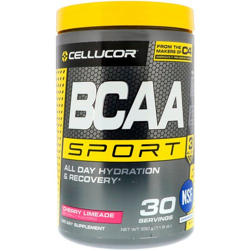 Cellucor, BCAA Sport, All Day Hydration & Recovery, Cherry Limeade, 11.6 oz (330 g) فوائد