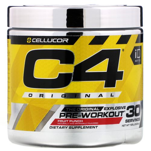 Cellucor, C4 Original Explosive, Pre-Workout, Fruit Punch, 6.88 oz (195 g) فوائد