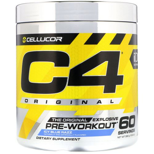 Cellucor, C4 Original Explosive, Pre-Workout, Icy Blue Razz, 13.8 oz (390 g) فوائد