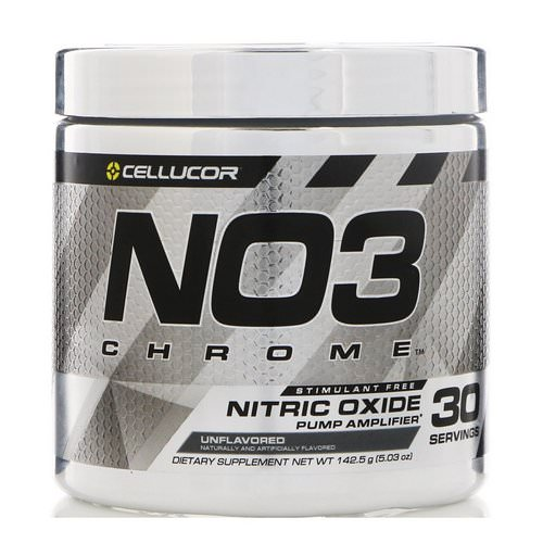 Cellucor, NO3 Chrome, Nitric Oxide Pump Amplifier, Unflavored, 5.03 oz (142.5 g) فوائد