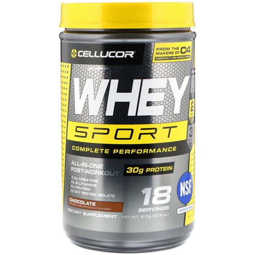 Cellucor, Whey Sport Complete Performance, Chocolate, 1.92 lbs (873 g) فوائد