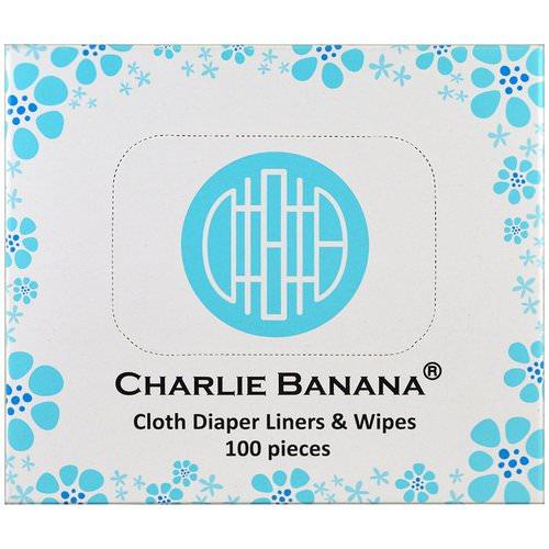 Charlie Banana, Cloth Diaper Liners & Wipes, 100 Pieces فوائد