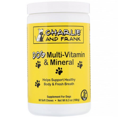 Charlie & Frank, Dog Multi-Vitamin & Mineral, Supports Fresh Breath, 60 Soft Chews فوائد