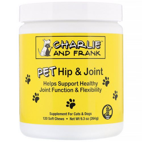 Charlie & Frank, PET Hip & Joint, For Cats & Dogs, 120 Soft Chews فوائد