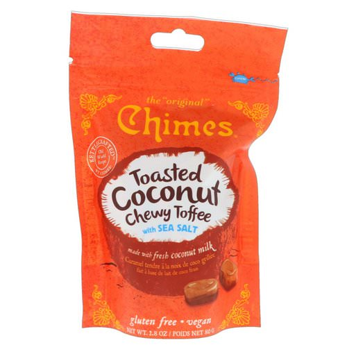 Chimes, Toasted Coconut Chewy Toffee with Sea Salt, 2.8 oz (80 g) فوائد