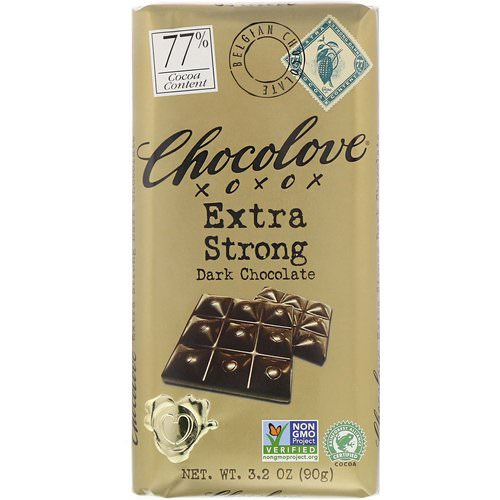 Chocolove, Extra Strong Dark Chocolate, 3.2 oz (90 g) فوائد