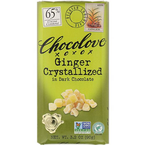 Chocolove, Ginger Crystallized in Dark Chocolate, 3.2 oz (90 g) فوائد
