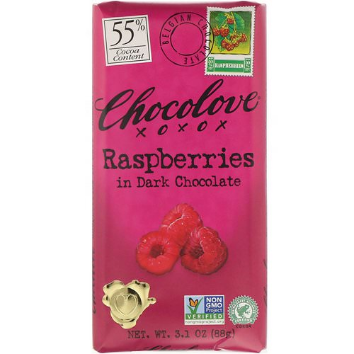 Chocolove, Raspberries in Dark Chocolate, 3.1 oz (88 g) فوائد