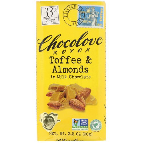 Chocolove, Toffee & Almonds in Milk Chocolate, 3.2 oz (90 g) فوائد