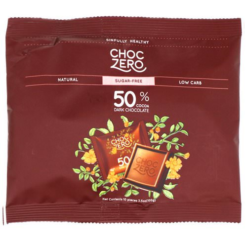 ChocZero Inc, Dark Chocolate Chips, Sugar Free, 7 oz فوائد