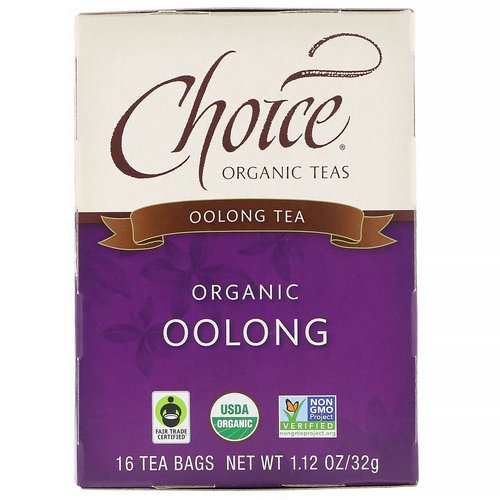 Choice Organic Teas, Oolong Tea, Organic Oolong, 16 Tea Bags, 1.1 oz (32 g) فوائد